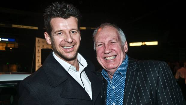 New Zealand personality and broadcaster Gary McCormick, right, and his radio partner Simon Barnett.