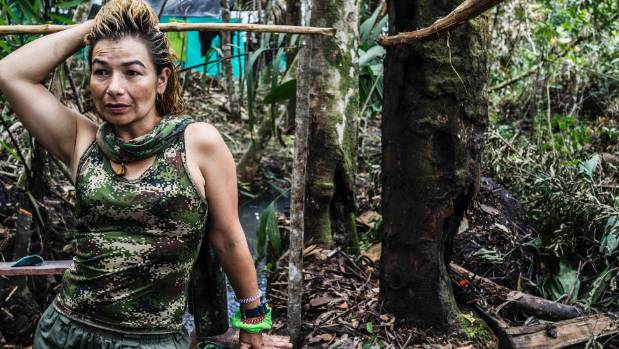 Yurluey Mendoza 33, a FARC fighter who joined the rebels at age 14,Many,is preparing to re-enter the modern world after ...