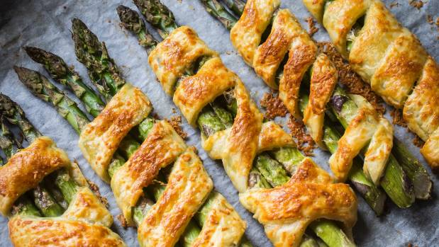 asparagus in parmesan puff pastry, stir-fried chicken with asparagus ...