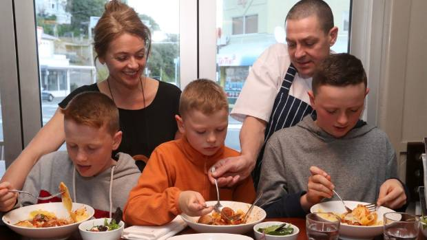 Jacob Brown and Sarah Bullock of The Larder, photographed last year with their sons Elliot, now 12, Lewis, 9, and Sam, 13.