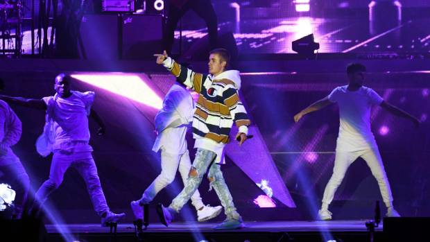 Justin Bieber performed at V Festival at Hylands Park, England in August this year.