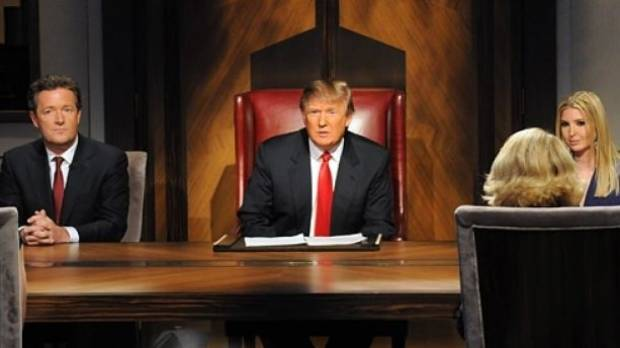 A scene from NBC's hit reality show, The Apprentice, starring Donald Trump. Sesame Street's Donald Grump parodied this ...