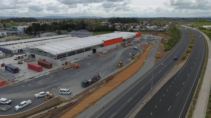 Construction underway for Mitre 10 Mega in Hamilton East