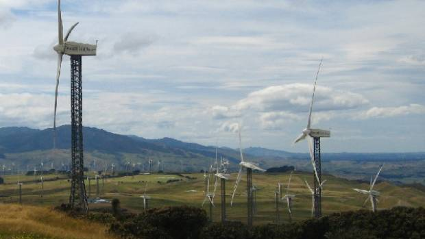 Turbines at Trustpower's Tararua wind farm.