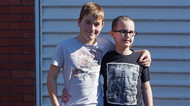 Caleb was recently able to catch up with best friend Hunter. The pair have been mates since they were 5.