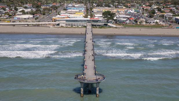 New Brighton pier from the air.