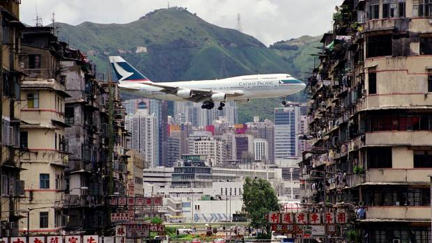 Cathay Pacific's last jumbo jet has made its final flight.
