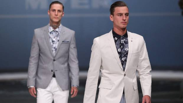 Models strut the catwalk in Politix garments at the Myer Spring Fashion launch last year.