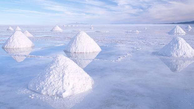 The Salar de Uyuni salt flats.