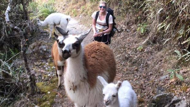 I had to take a break to pat the lamas in the middle of our trek.