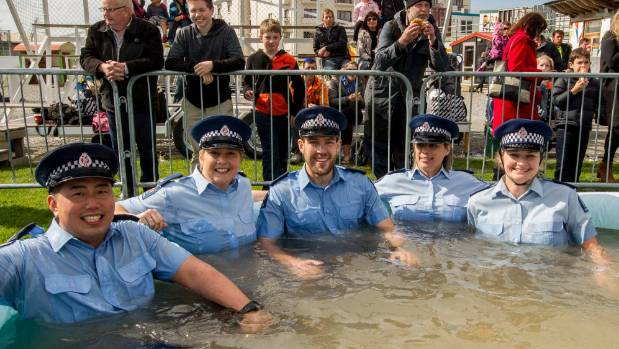Constables Shonosuke Deguchi, left, Emily Noonan, Liam Wright, Megan Robertson and Melissa Arnold took part in the Heart ...