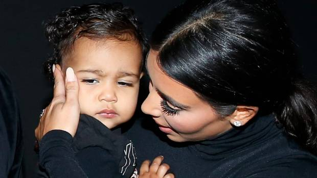 Kim Kardashian and her daughter North West.