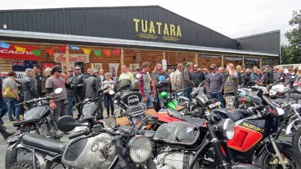 Crowds outside the Tuatara Brewery in Paraparaumu on the Kapiti Coast.