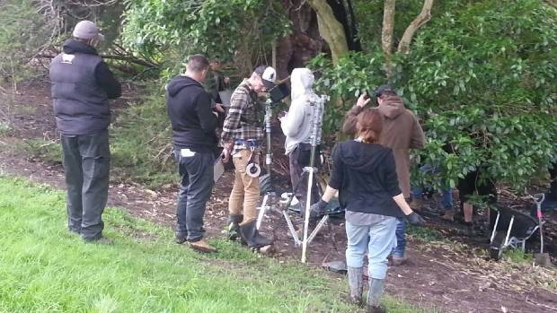 One of the few scenes Screentime New Zealand were shooting on Sunday.