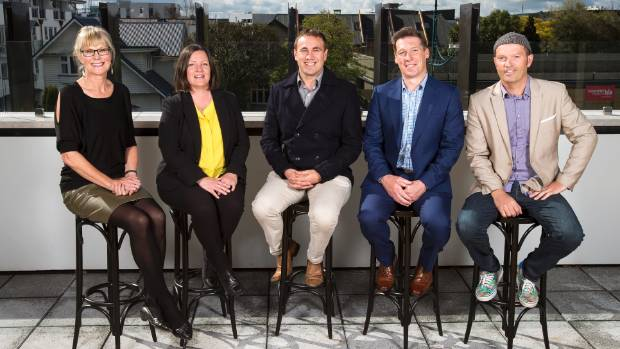 Christchurch's new councillors, from left, Anne Galloway (Halswell), Sara Templeton (Heathcote), Deon Swiggs (Central), ...