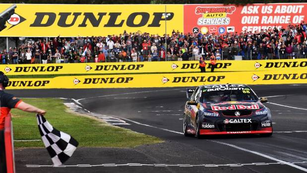 Jamie Whincup crossed the line first at the Bathurst 1000 but was later assessed a 15-second penalty that dropped him to ...