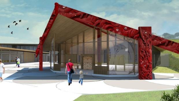 The original design of the Ngamotu Marae will not proceed, as the trust don't have enough money to fund it.