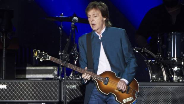 Paul McCartney performing in Madrid last year. He will play Auckland's Mt Smart Stadium on December 16.