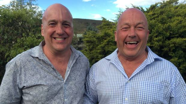Central Otago mayor Tim Cadogan, left, with his brother Bryan, the Clutha District mayor, on the day of their mutually ...