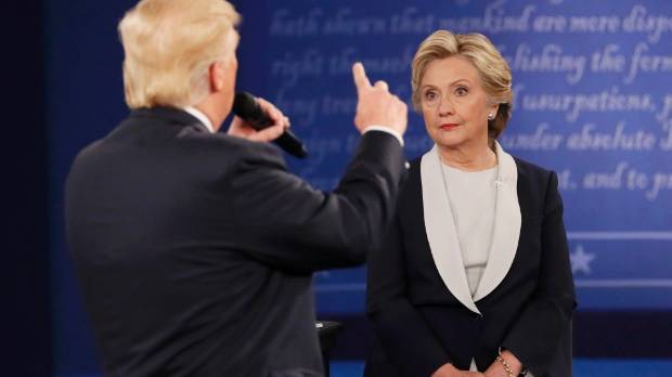 "Trump referred to Clinton as ""the devil"", while Clinton said Trump lived in an ""alternate reality"" in the last debate."
