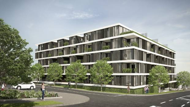 Concept drawings of the Flo Apartments, which were to have been built on the Avondale RSA site in the west of Auckland.