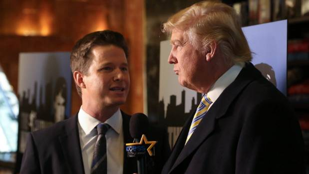 Donald Trump is interviewed by Billy Bush in 2015.