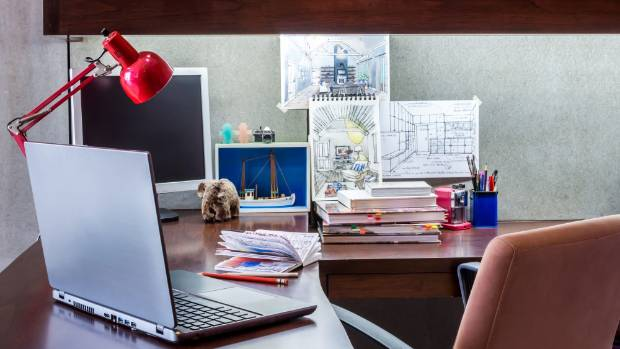 Converting an extra bedroom into a home office can be a family-friendly choice: used for homework as well as office work.
