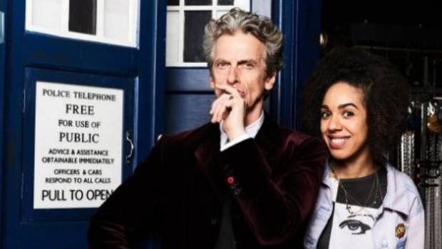 Peter Capaldi was a Doctor Who fan who joined the team - right at the very top. He's with the companion Bill, played by ...