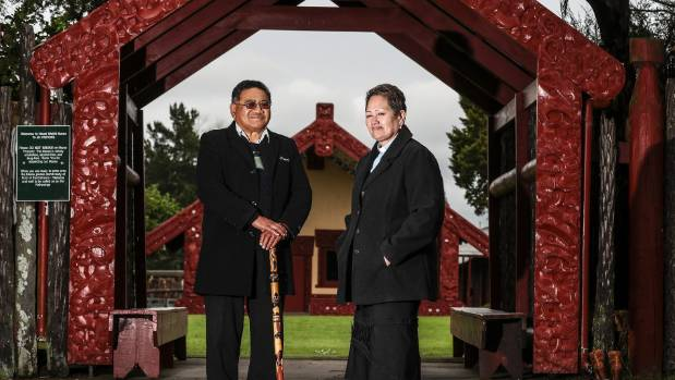 Wimutu Te Whiu and Rev Amiria Te Whiu outside the Hoani Waititi Marae in Glen Eden. They want Maori collectively to hold ...