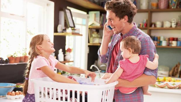 Dads are doing more caregiving than ever before - and learning their own set of multitasking skills.