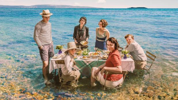 The cast of The Durrells filming in Corfu.