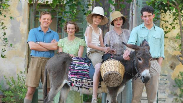 Callum Woodhouse, Daisy Waterstone, Milo Parker, Keeley Hawes and Josh O'Connor in The Durrells.