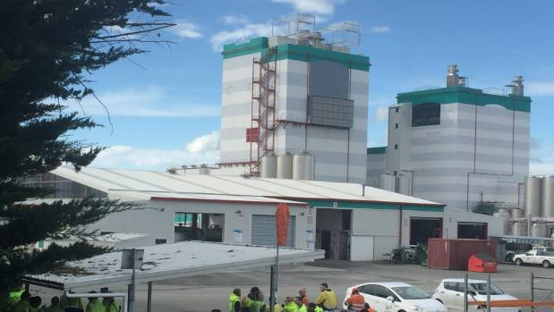 Emergency crews were called to Fonterra's Edendale plant last month when a milk silo collapsed.