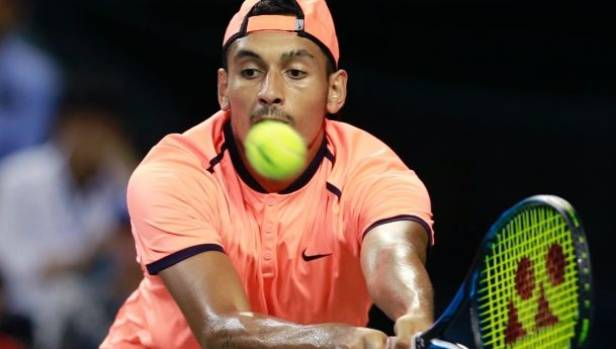 Nick Kyrgios has been banned for eight tournament weeks for 'tanking' at the Shanghai Masters.