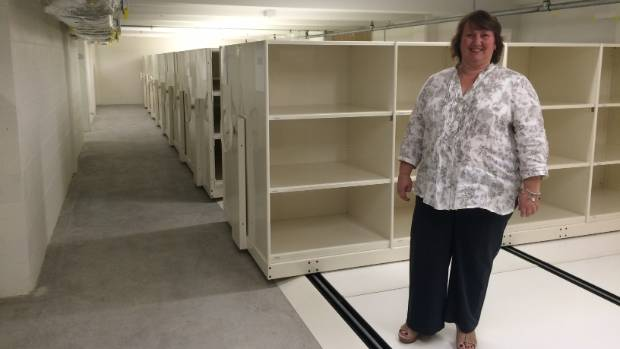 Napier MTG director Laura Vodanovich, in the basement of the building before it was filled. Just 40 per cent of the ...