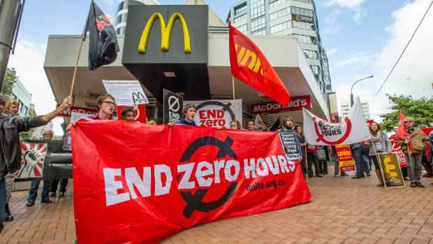 """Unite Union claims McDonald's is not following the law banning the use of """"zero hour"""" contracts in the country."""