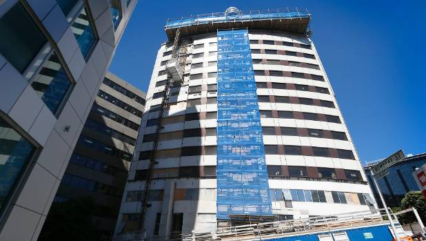 Wellington's Sofitel, seen here under construction in 2015, was converted from offices once occupied by ENZA. It opened ...