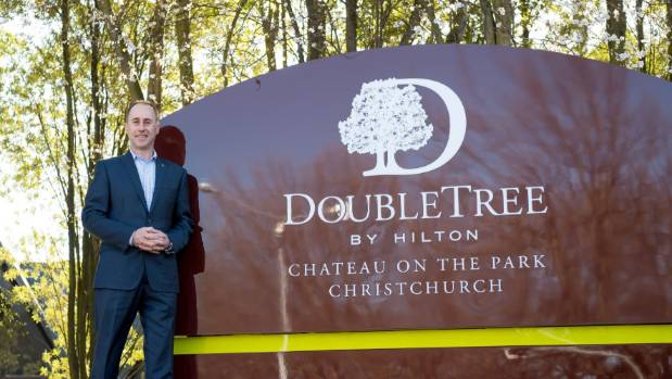 David Wain, manager of Chateau on the Park, which was taken over by Hilton's DoubleTree chain last month. The hotel is ...