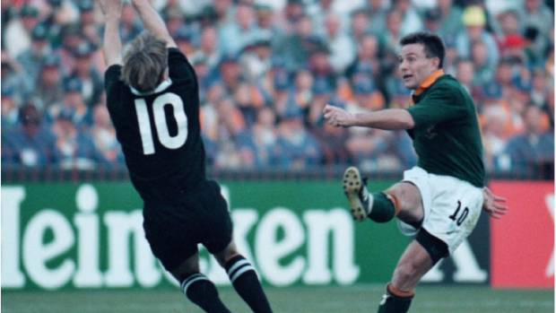 Joel Stransky kicked the winning drop goal at the 1995 Rugby World Cup.