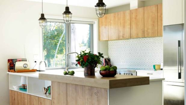 Cube Tile From Tile Centre In Dunedin In This Wanaka Kitchen; The Cabinetry  Is From