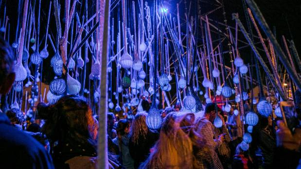 Street party with a difference. Festa 2014 included this very cool installation called Orbis.