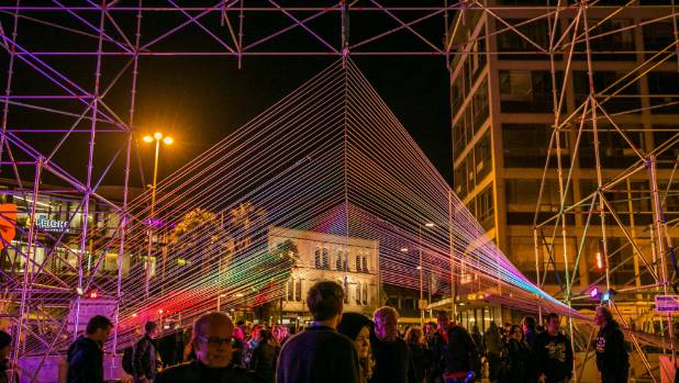 Architecture students played with light and form at Festa 2014. Expect something similar this Labour Day weekend in ...