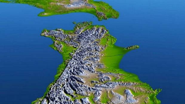 The theory that the Alpine Fault on the South Island's West Coast is