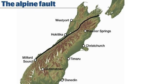 Where the Alpine fault lies.
