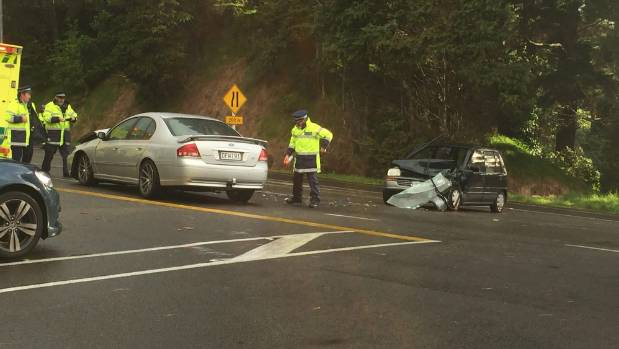 Two Cars Crash On State Highway 3 Just South Of New Plymouth