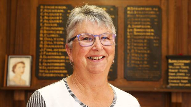 Canvastown Community Association chairwoman Linden Armstrong in the Canvastown Memorial Hall, where articles and ...