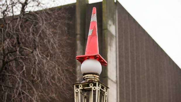 Nothing is safe when road cones are near.