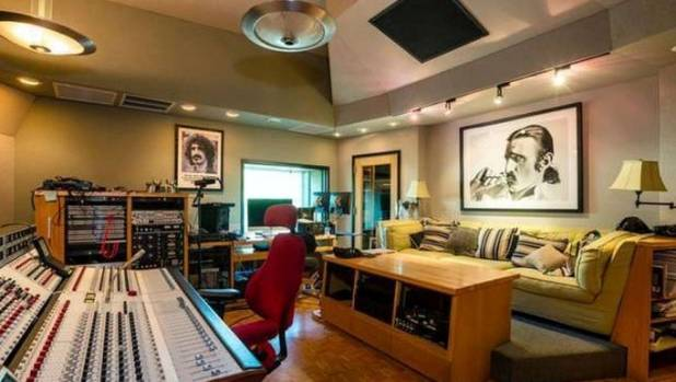 The home includes a recording studio in the basement.