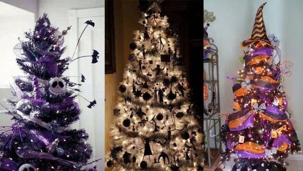 Decorating Christmas Trees For Halloween.Halloween Christmas Trees Are The New Festive Trend Stuff