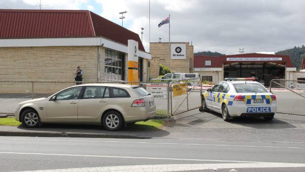A cordon remains in place at the St John Ambulance station in Whangarei.